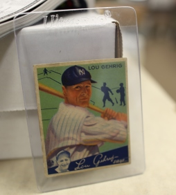 A vintage Lou Gehrig card at the Sports Card Dugout can be yours--for $2,000.