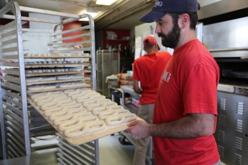 Pretzels ready to bake.
