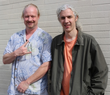 Rob (left) and Mike Silverman, impresarios of the U. City and Chesterfield Jazz festivals.