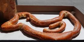 Special order--duck-shaped pretzel.