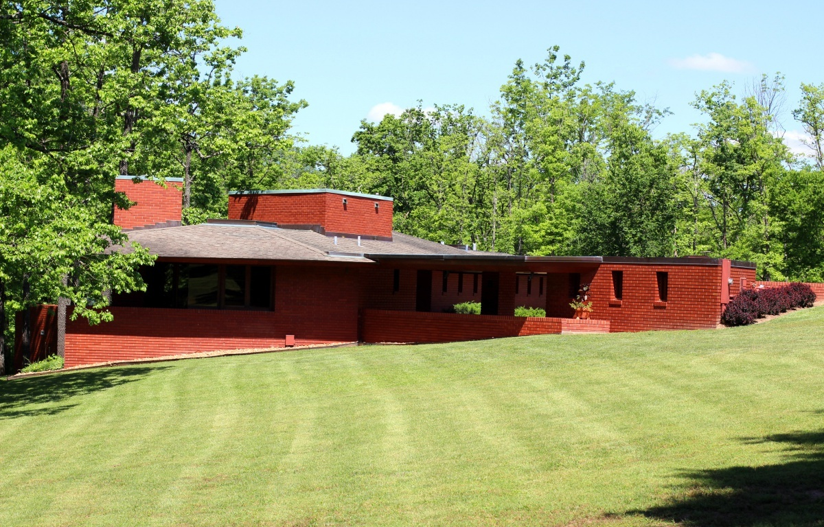 frank lloyd wright house in ebsworth park st louis county arts. Black Bedroom Furniture Sets. Home Design Ideas