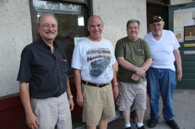 Big Bend Railroad Club members Ken Rimmel, Rich Melka, Bob O'Neill and Jerry Affeldt.
