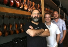 Top Notch Violins owners Ted Moniak, Stephen Nowels, and Chris Clark.