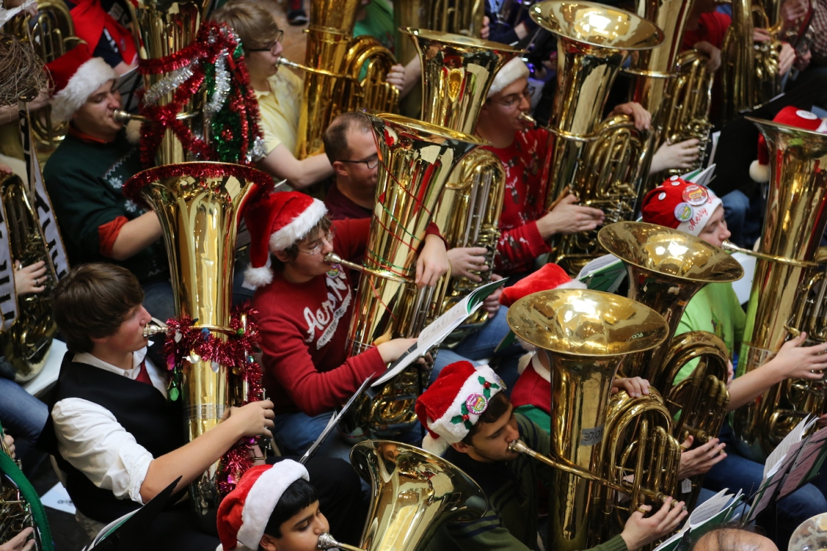 Nothing Says Happy Holidays Like 125 Tubas Playing Christmas Carols